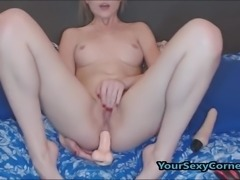 Blonde Russian Slut Enjoys Smoking After Hard DP