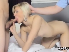 Boyfriend assists with hymen checkup and nailing of virgin n