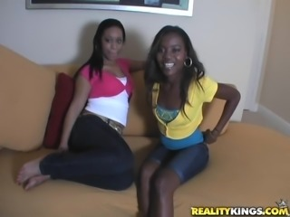 Charming Ciera And Her Ebony Friend Have An Interracial Threesome