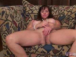 Hot lusty mature pussy fingering and toying masturbation