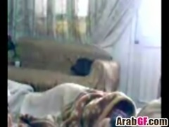 Arab chick is awakened for some midnight sex