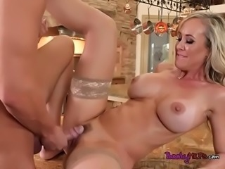 Chesty Cougar Brandi Love Gets Her Pussy Destroyed