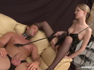 Sexy Lois loves teasing her nasty slave with her body
