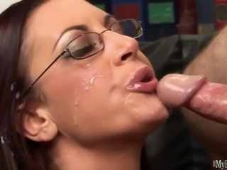 Sexy secretary Emma is fucked by her boss