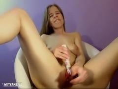 Cute blonde shaking orgasm masturbation on wetcams
