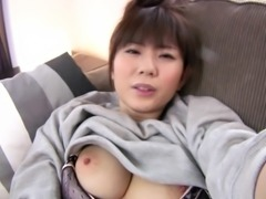 Yuma Asami uses a sex toy to make her hairy vagina dripping wet