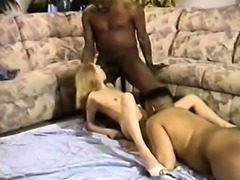 Interracial latex anal threesome sex