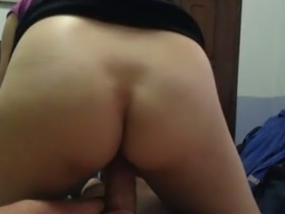 My new wife rides my dick sitting on me reverse