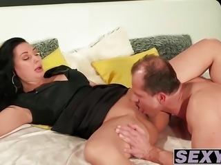 Sexy ass MILF Eva Ann railed deeply in her wet pink cunt