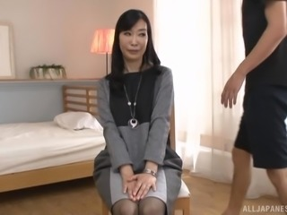 Gotou Chika gets naked and starts touching her cock-craving clit