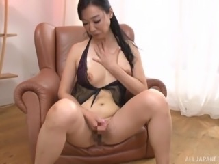 Cutie Gotou Chika playing with her tits and restless pussy