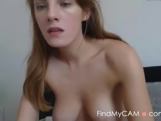 Cam model dildo riding