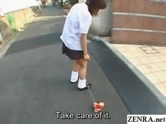 Bizarre JAV enema walk of shame for collegegirl