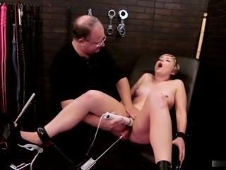 Dirty Nora enjoys big vibrator