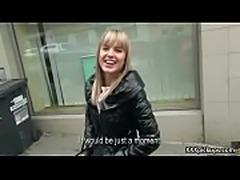 Cutie amateur european slut seduces tourist dor a street blowjob 27