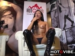 Hot Spanish Lesbians  Squirting and fooling around while in public
