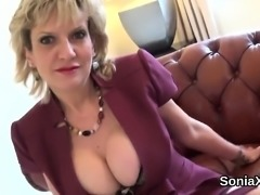 Unfaithful english milf gill ellis pops out her big balloons