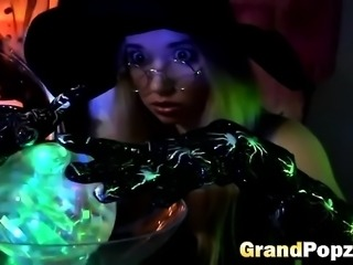 Hot witch fucked by grandpa