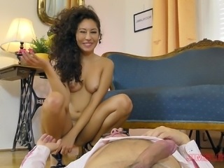 Small tits Melody bend over to enjoy monster cock hardcore