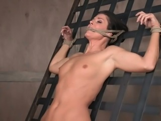 Horny mistress is putting the vibrator right on India Summer's clit