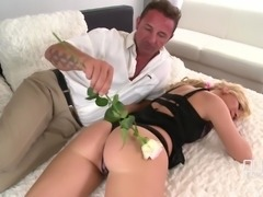 Mature lover wants to fuck Angie Koks' tight pussy