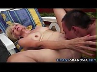 Grandma whore gives head