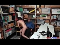 Shoplifter Angel bangs in her tight pussy