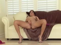 Keeani Lei Striptease and Masturbation