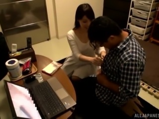 Sakurai Ayu teases a man with her body before a fuck