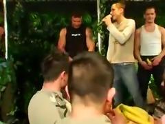 Athletes on twinks and movie gay sex boy 18 Dozens of boys go bananas