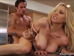 Julia Ann gladly gets hard fuck in her ass and pussy!