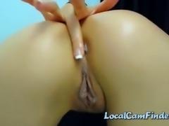 webcam brunette slut with big ass fingering her ass hole and teasing