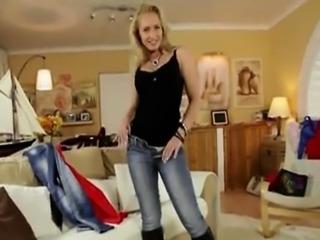 Blonde girl pov blowjob and cumshot