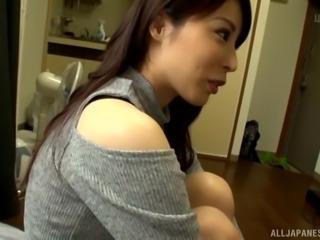 Japanese cutie Sakurai Ayu is ready to taste a hairy boner