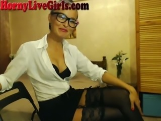 This office girl is so hot and she looks just like a big tits pornstar