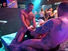 Sweaty and extremely horny Tina Kay and her chicks teasing and fucking