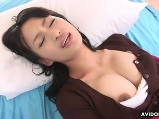 Busty Asian college beauty cums while toying her smooth twat