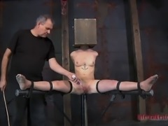 Mei Mara exposes her juicy pussy when tortured in BDSM