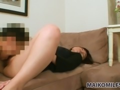 Tight pussy of kawaii Japanese lady Kazue Hamano is worth some doggy