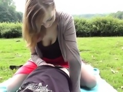 Outdoor amateur pov sex