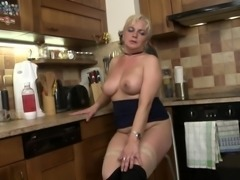 This sexy fat lesbian needed a break in the kitchen. So, she pulled up a...