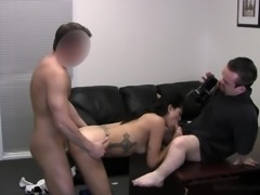 Slut Bettie gets filmed from one side and fucked from another