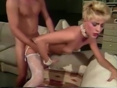 Sizzling hot short haired blonde milf getting hammered hard from behind