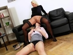 Lebians fingering and eating pussy during working hours