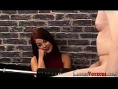 Domina redhead judges tug
