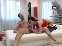 Bimbo Nikky Perry fucking her man Rocco Siffredi and enjoying