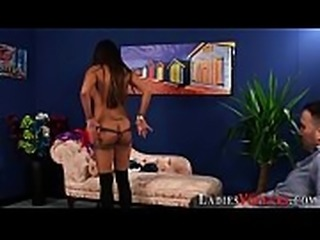 Lingerie domina shows ass