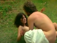 Two insatiable and fresh European girls outdoors havingfun