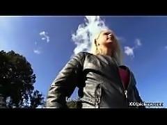 Cutie amateur european slut seduces tourist dor a street blowjob 29