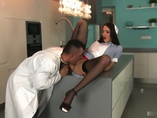 Beautiful nurse is slut